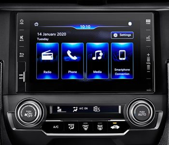 "NEW 7"" CAPACITIVE TOUCHSCREEN DISPLAY AUDIO, AM-FM RADIO, AUX-IN PORT, USB PORT, SMARTPHONE CONNECTION, BLUETOOTH"